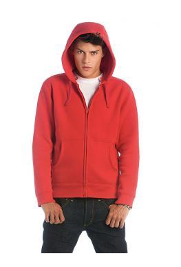 Heren hoodie met rits foto