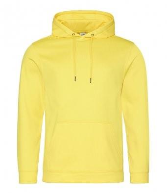 AWDis Hoods Sports polyester hoodie Geel
