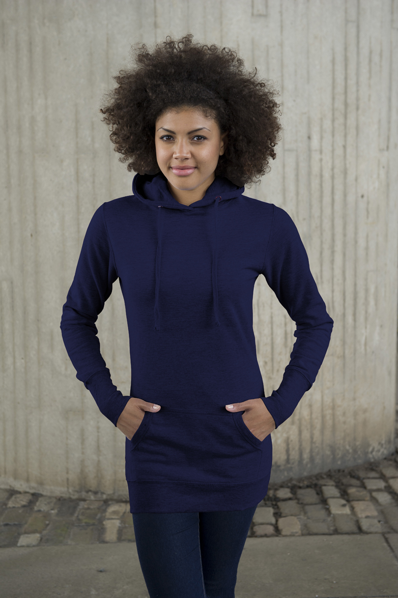 AWDis Girlie Longline New French Navy