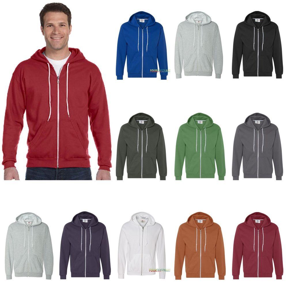 Anvil full zip hooded sweatshirt alle kleuren