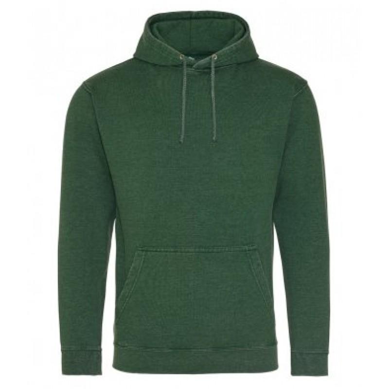 AWDis Hoods Washed hoodie heren bottle green
