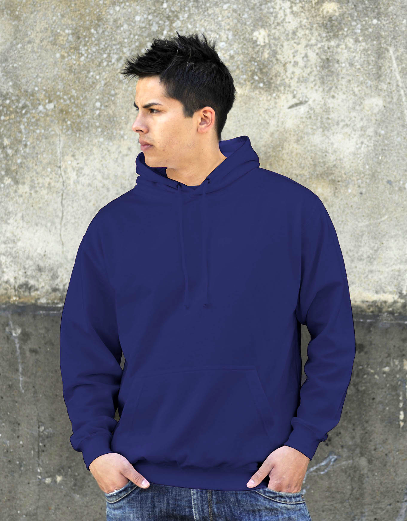AWDis College Hoodie Oxford Navy