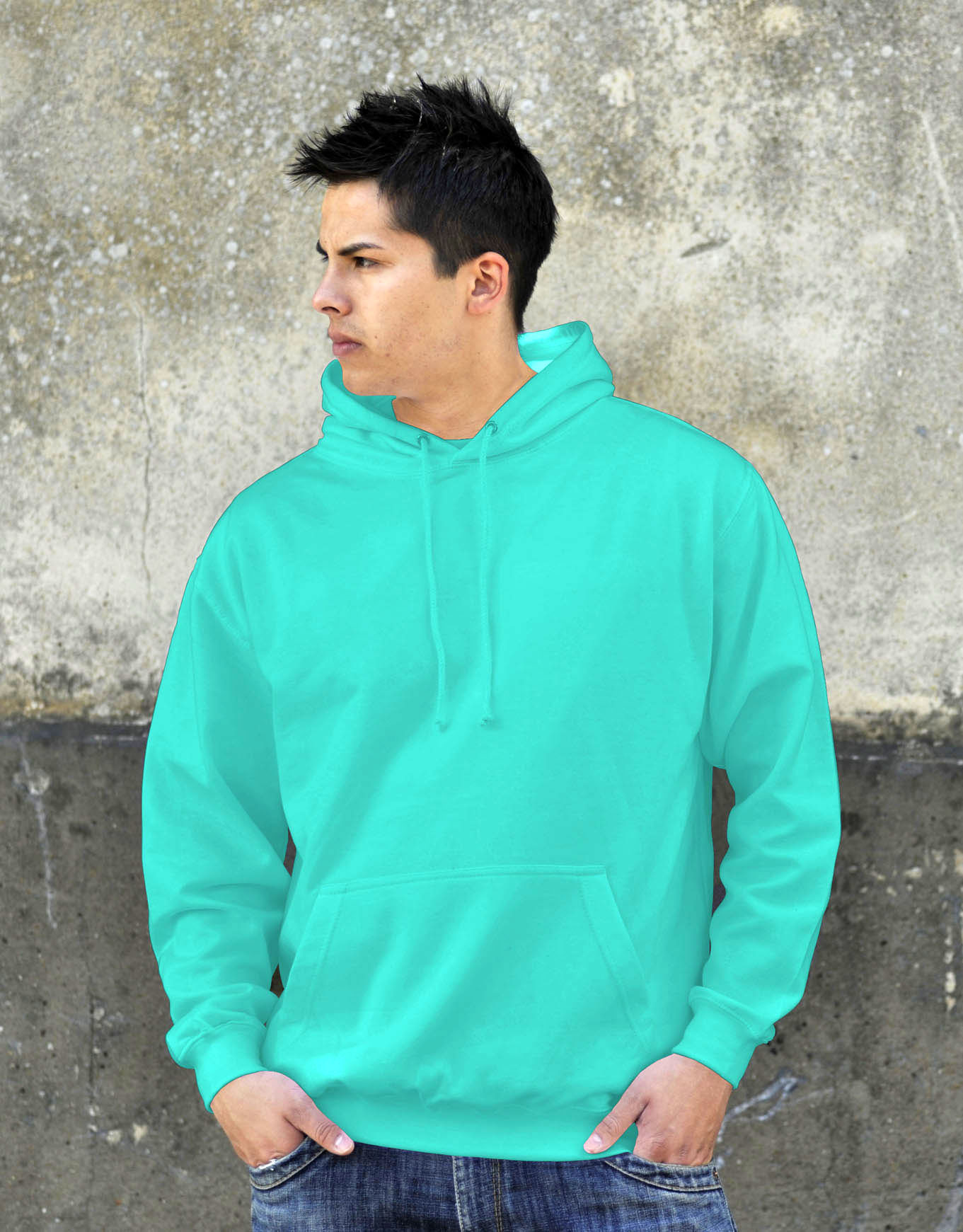 AWDis College Hoodie Peppermint