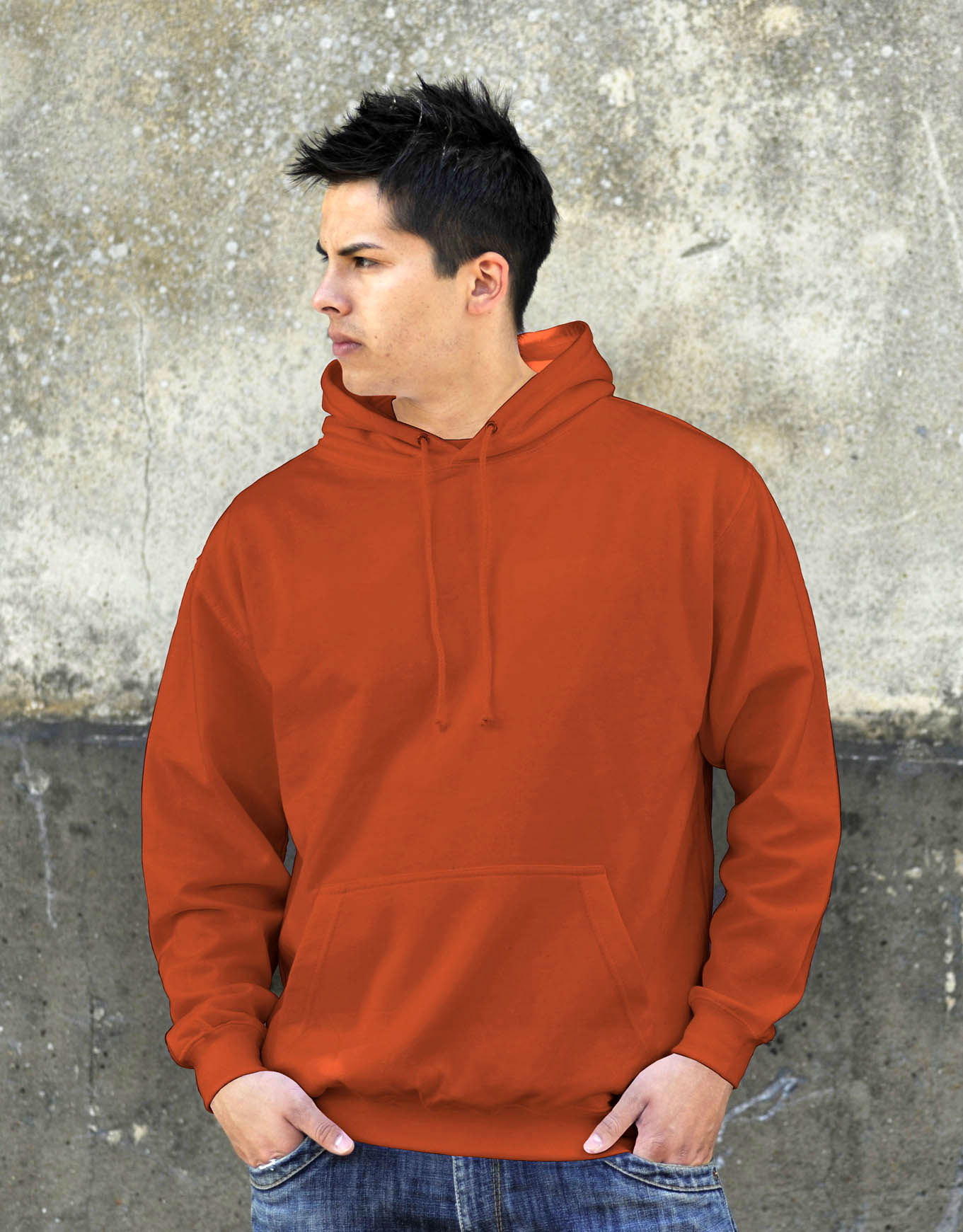 AWDis College Hoodie Burnt Orange