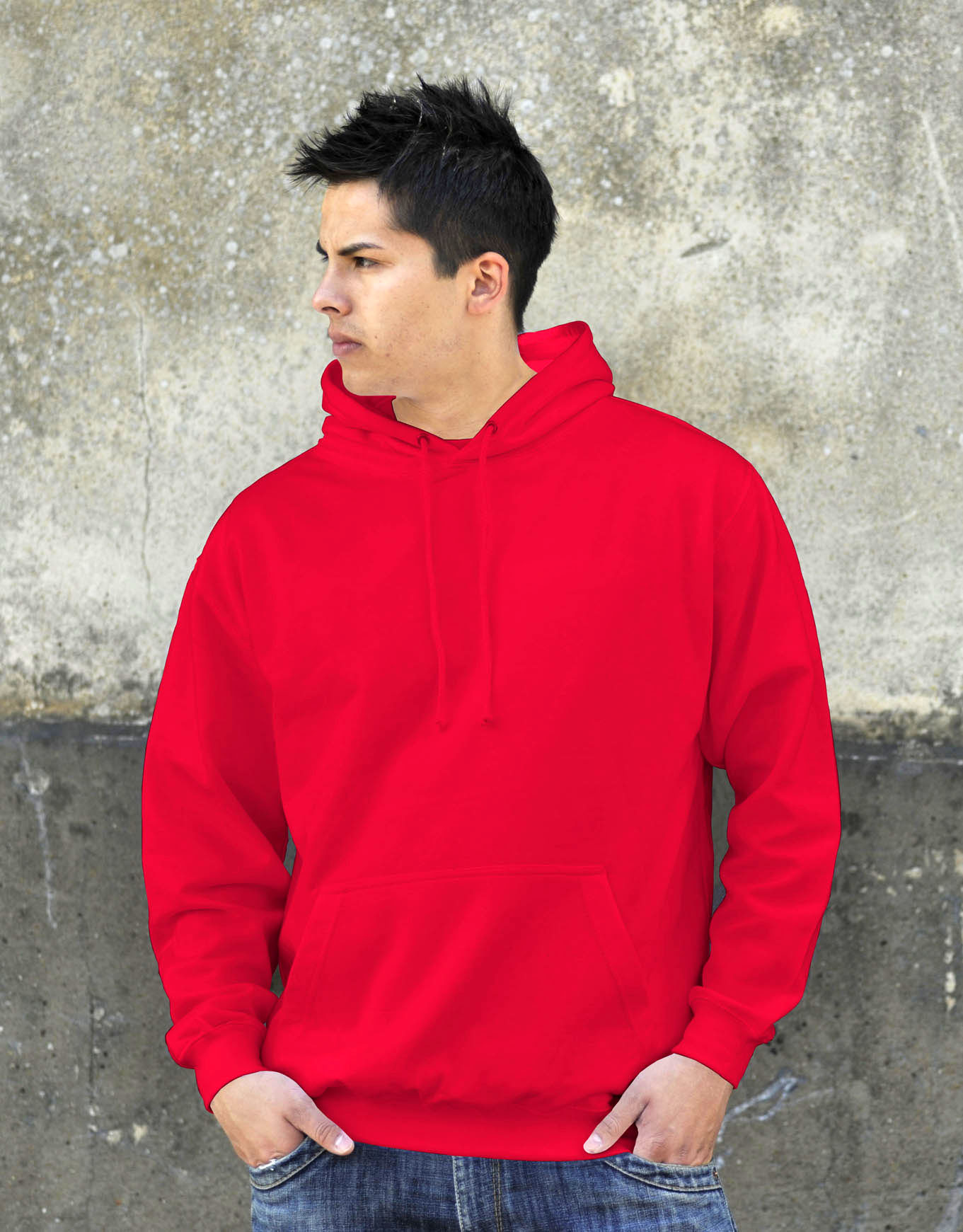 AWDis College Hoodie Sunset Red