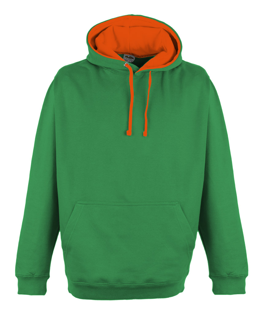 JH013 Kelly Green - Electric Orange