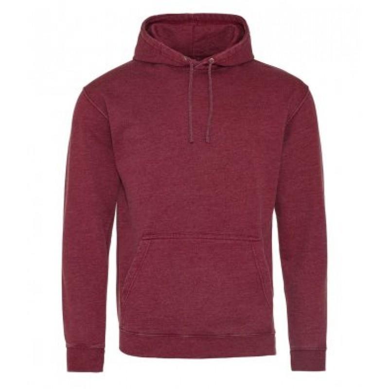 AWDis Hoods Washed hoodie heren burgundy