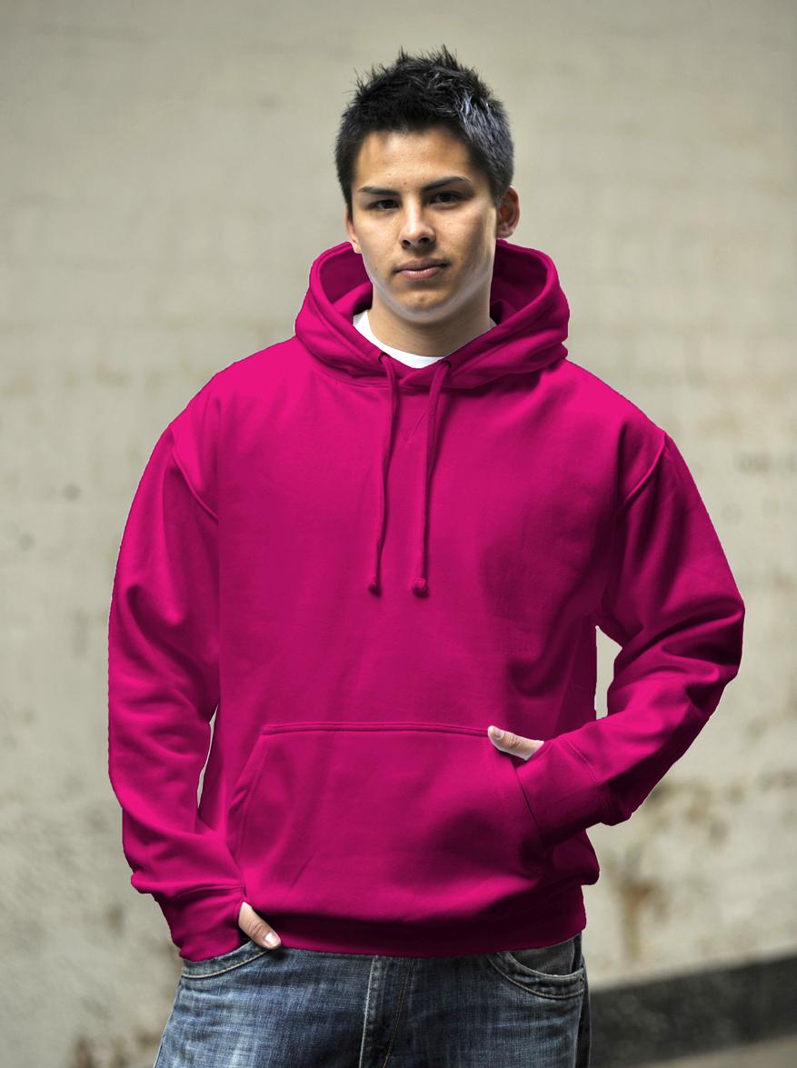 AWDis Street Hoodie Hot Pink
