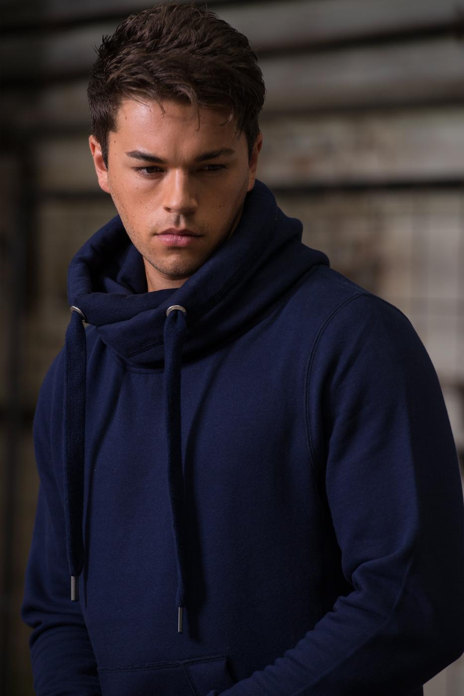 AWDis Hoods Cross neck hoodie heren blauw