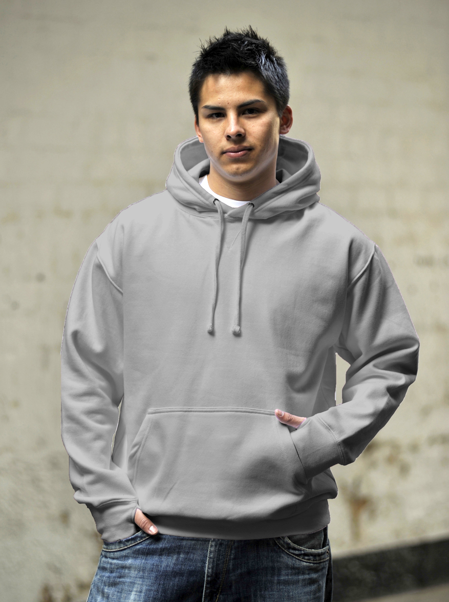 AWDis Street Hoodie Heather Grey