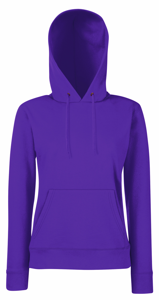 Lady Fit Hooded Purple