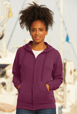 Fruit Of The Loom Lady-Fit hoodie met rits