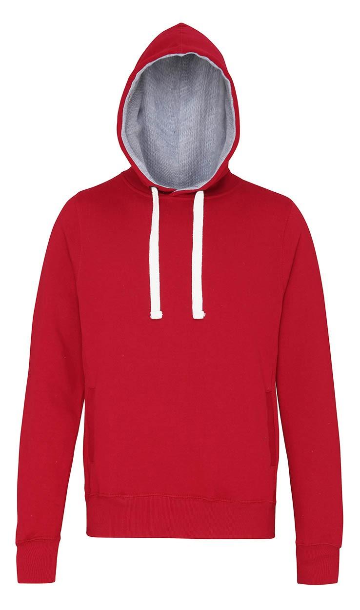 AWDis Hoods Chunky hoodie Red hot Chilli