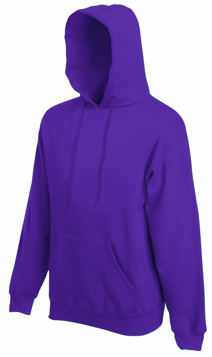 Fruit of the Loom Hooded Sweater Purple