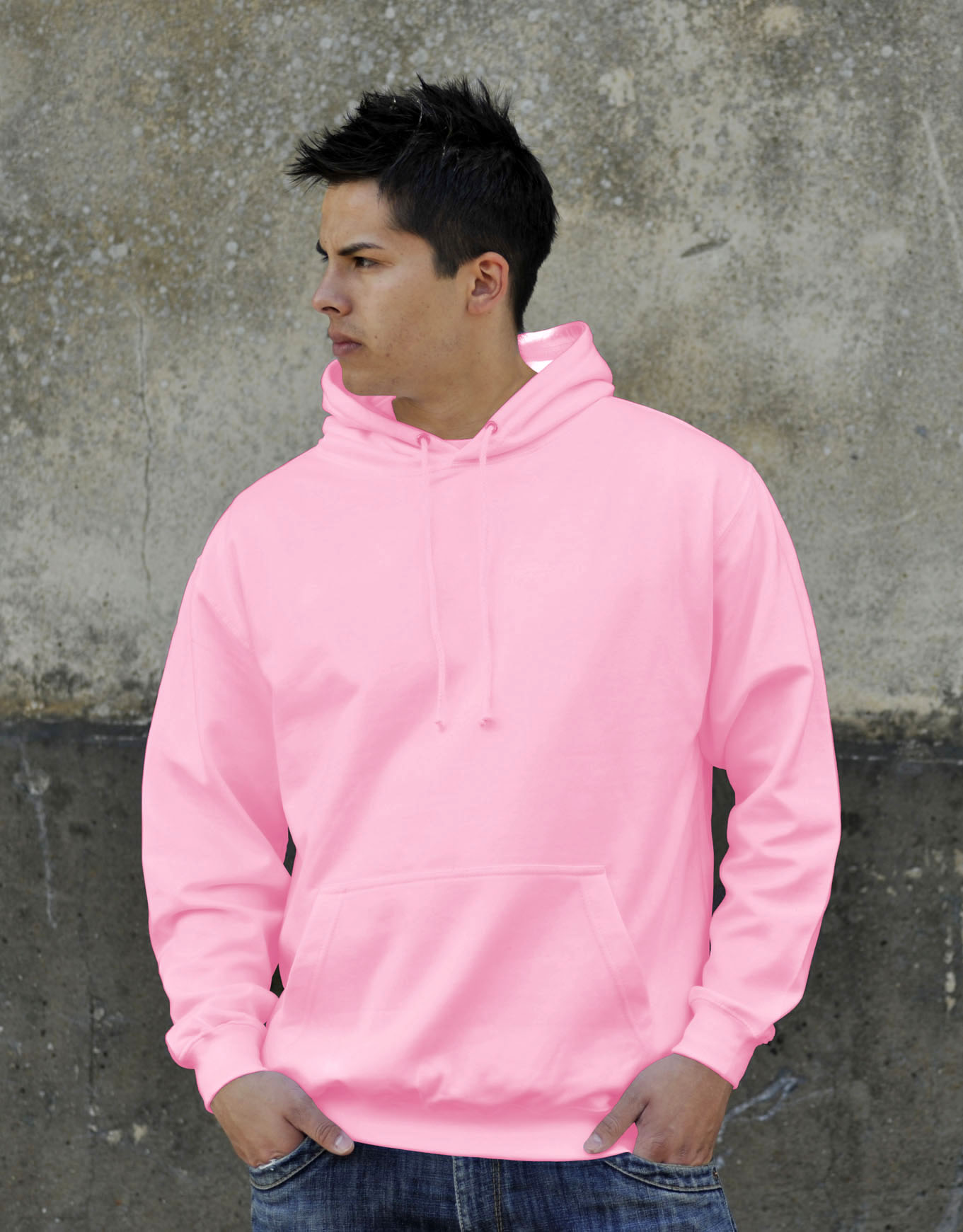 AWDis College Hoodie Baby Pink