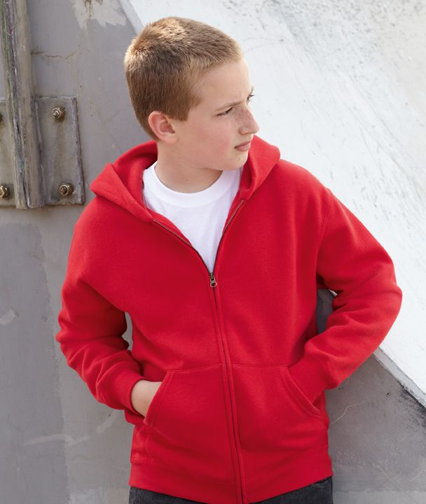 Fruit ot Loom Kids Zip Hooded