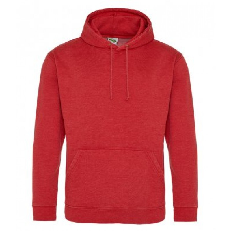 AWDis Hoods Washed hoodie heren fire red