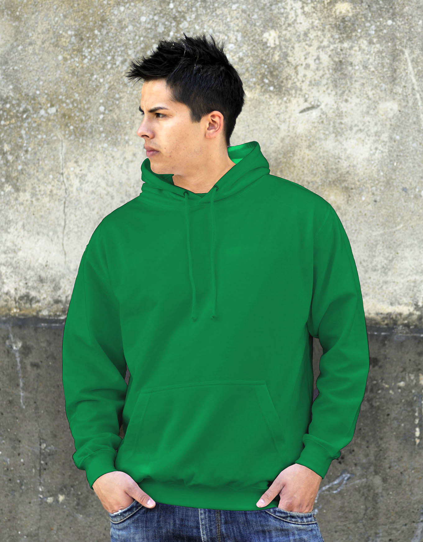 AWDis College Hoodie Kelly Green
