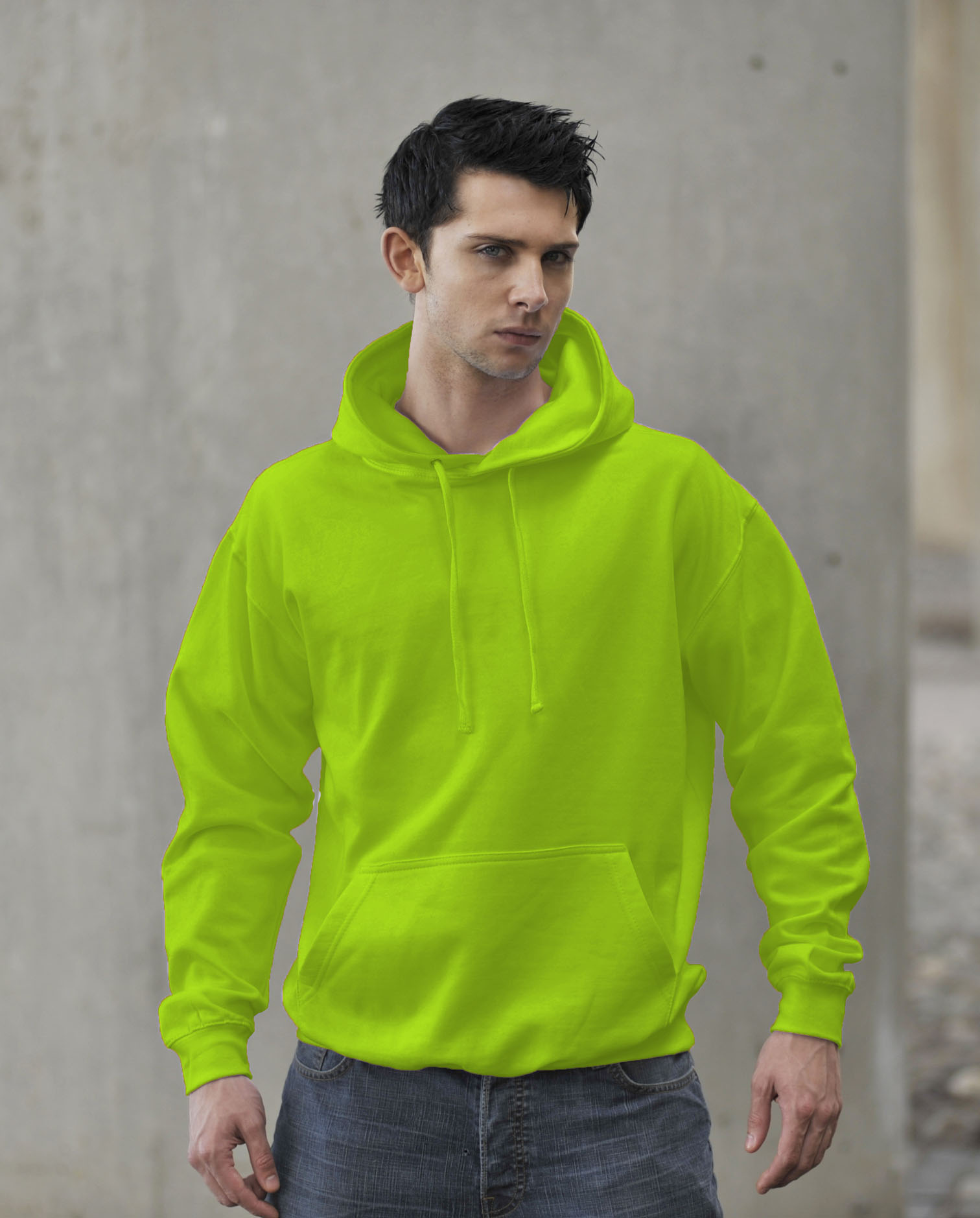 JH004 Fluor Hoodie Electric Green