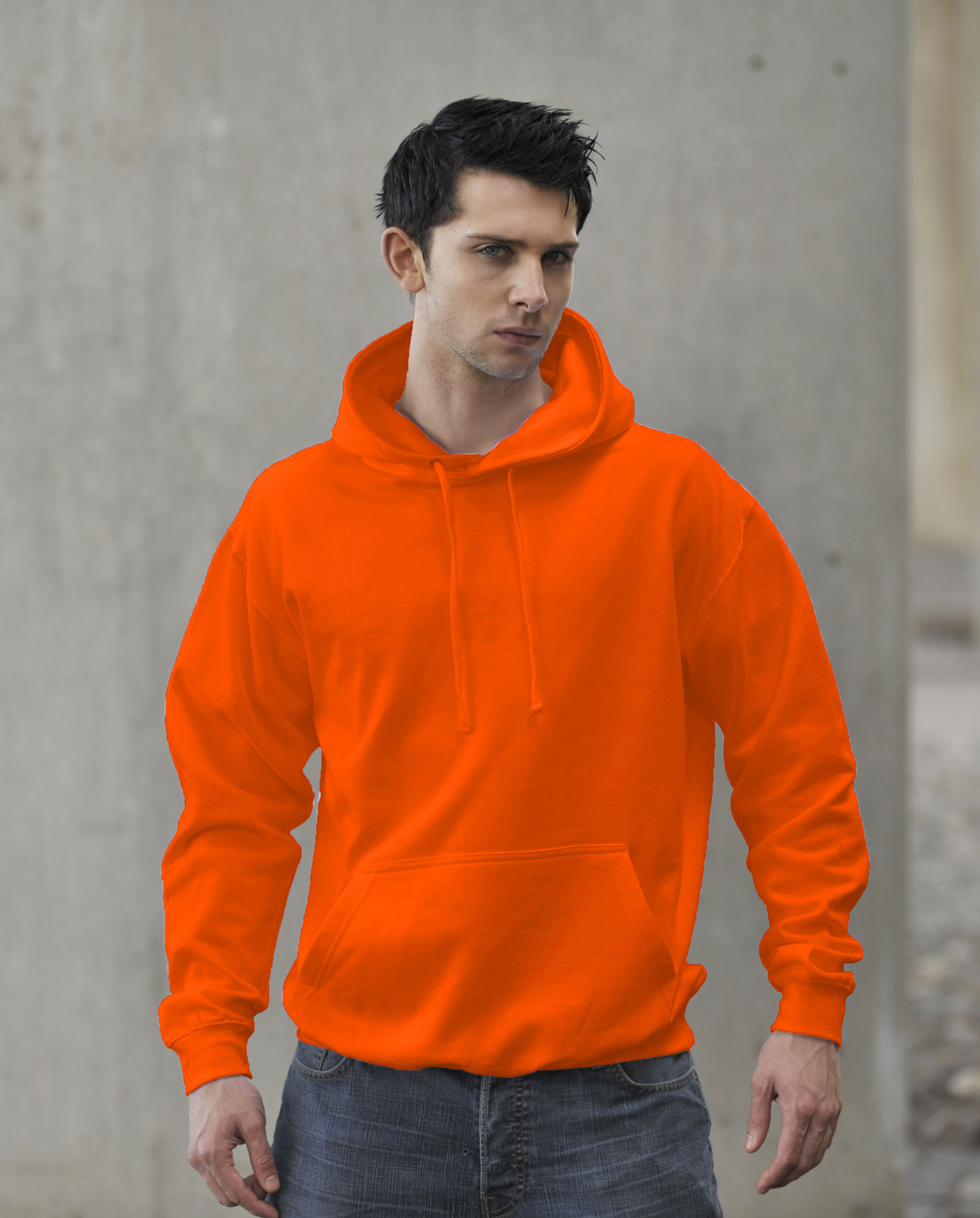 JH004 Fluor Hoodie Electric Orange