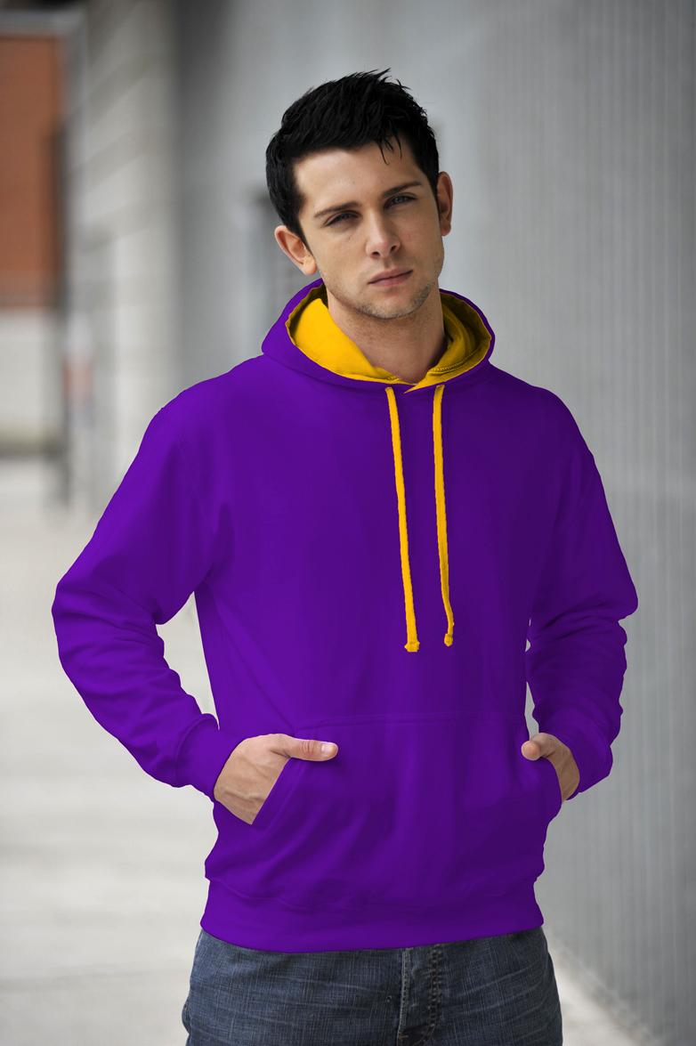 AWDis Varsity Hoodie Purple