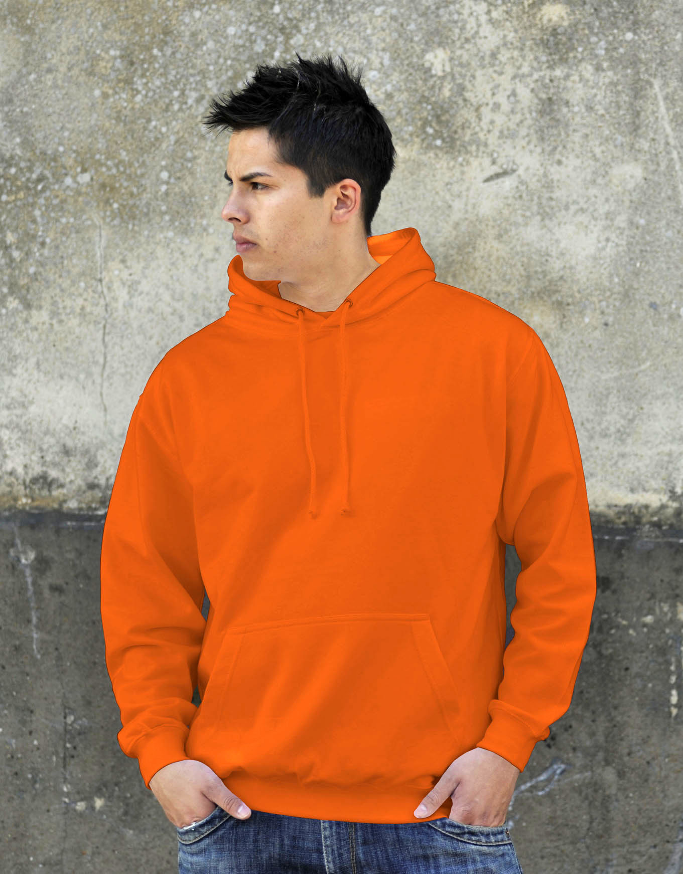 AWDis College Hoodie Orange Crush