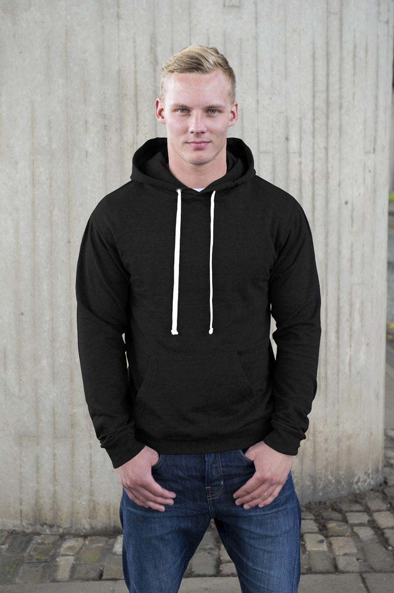 AWDis Heather Hoodie Black Heather