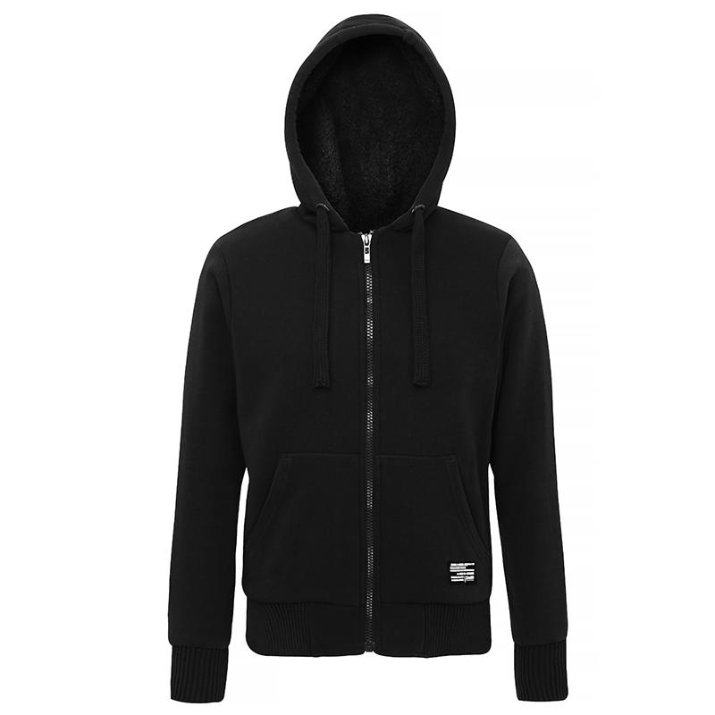 Fashion Sherpa fleece lined zip hoodie heren