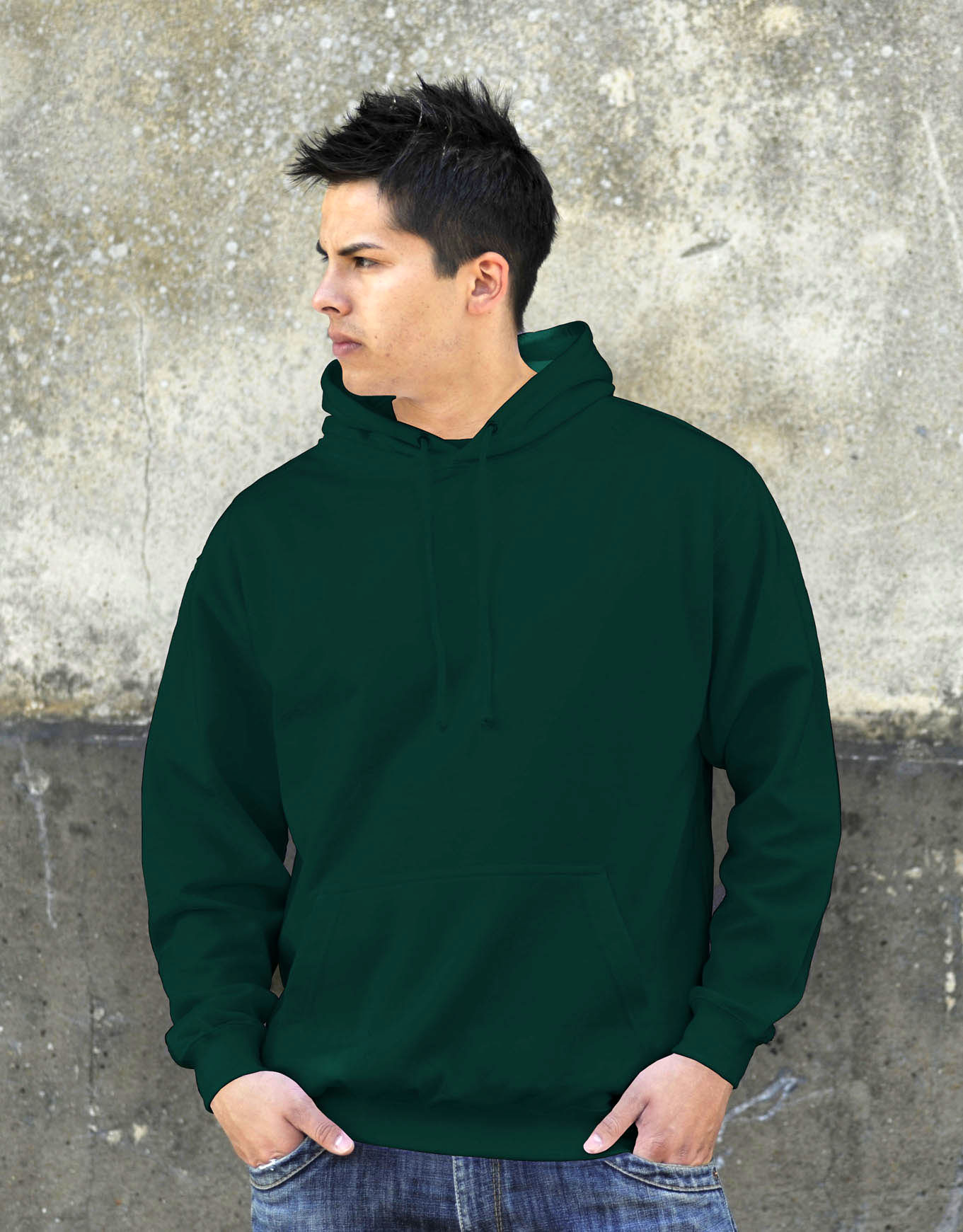 AWDis College Hoodie Bottle Green