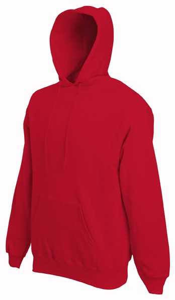 Fruit of the Loom Hooded Sweater SC244C Red