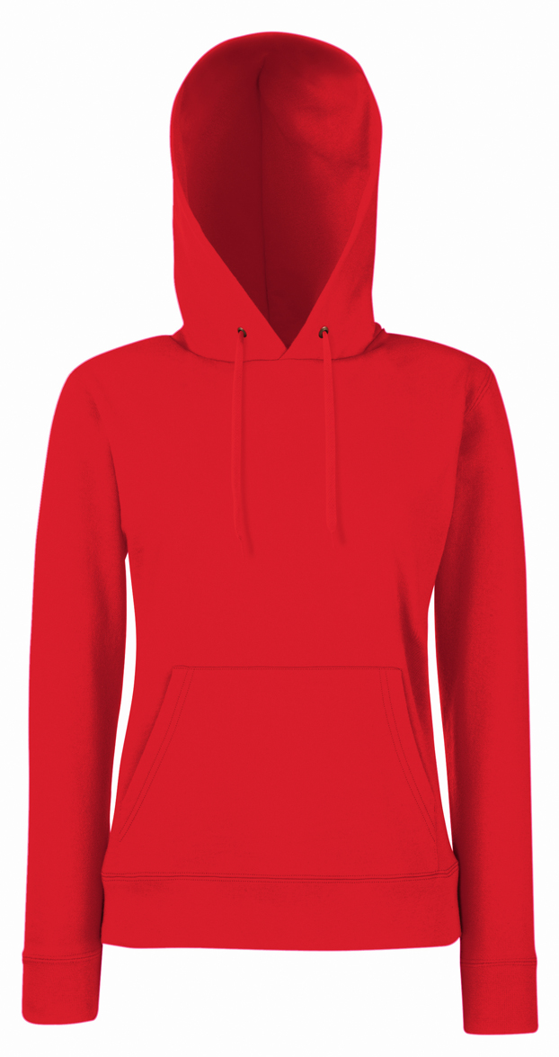Lady Fit Hooded Red