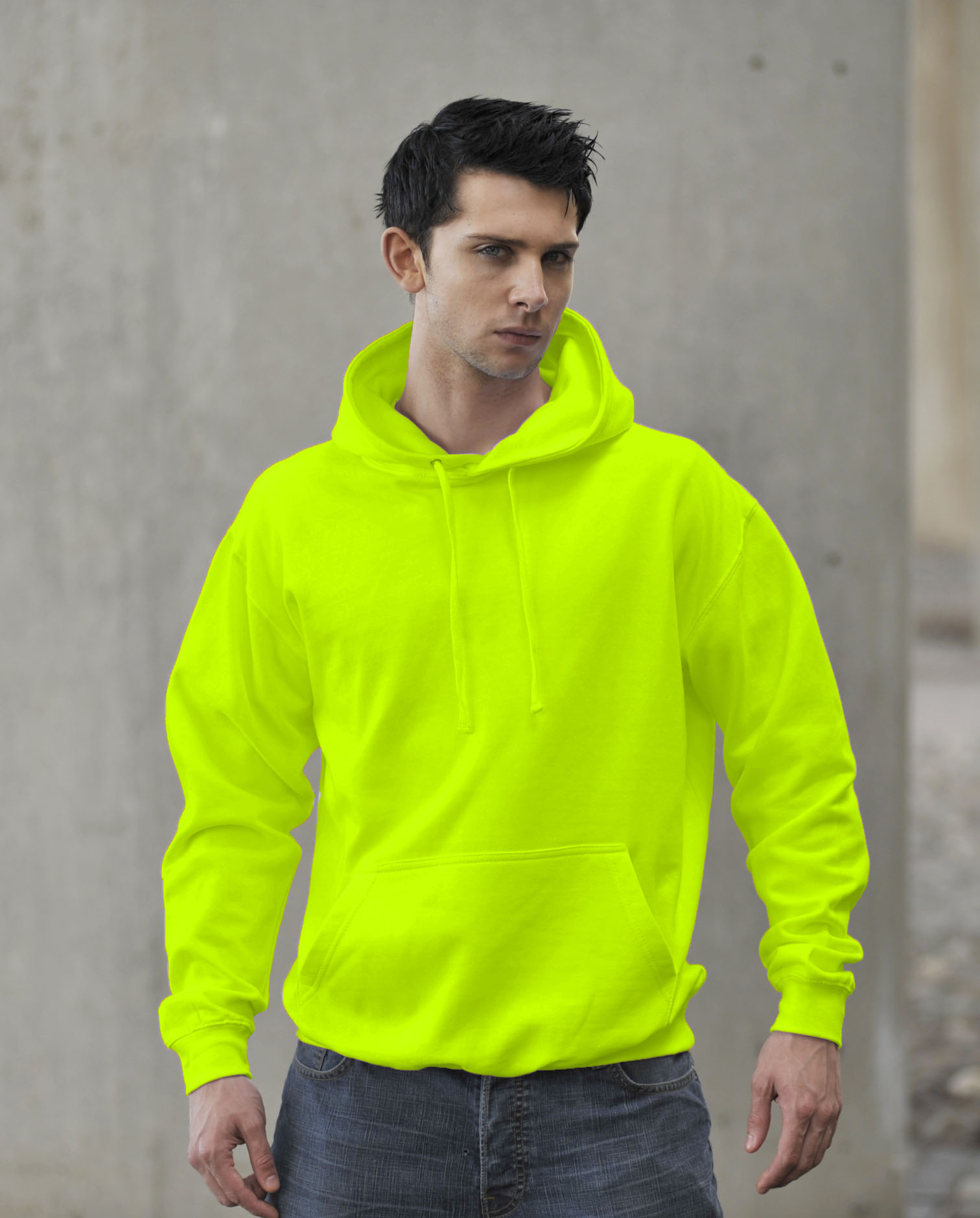 JH004 Fluor Hoodie Electric Yellow