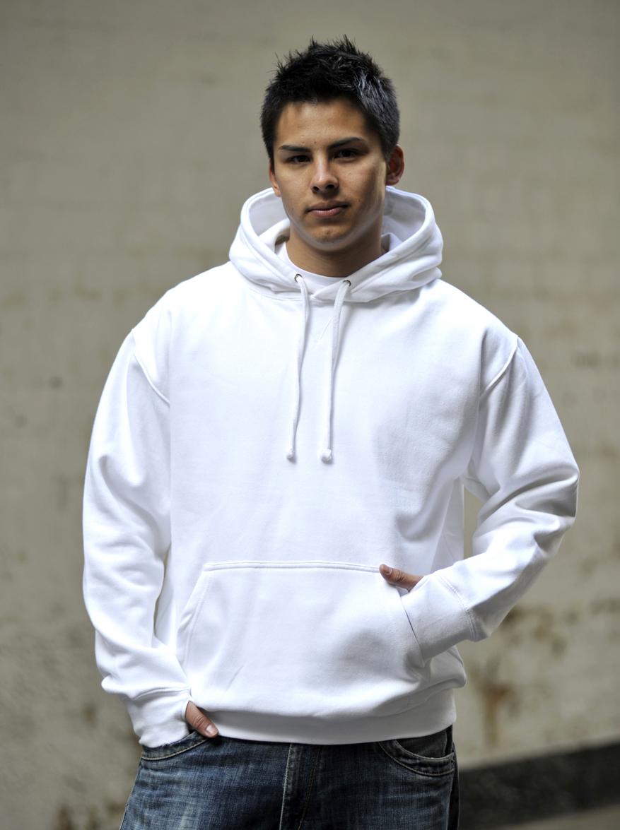 AWDis Street Hoodie Arctic White