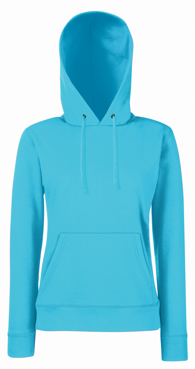 Lady Fit Hooded Azure Blue