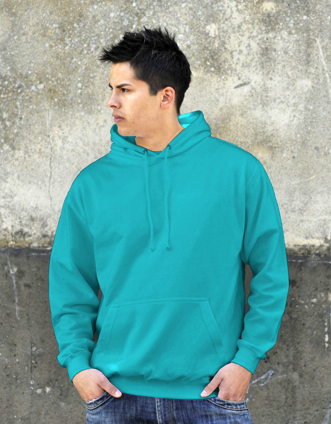 AWDis College Hoodie Turquoise Surf