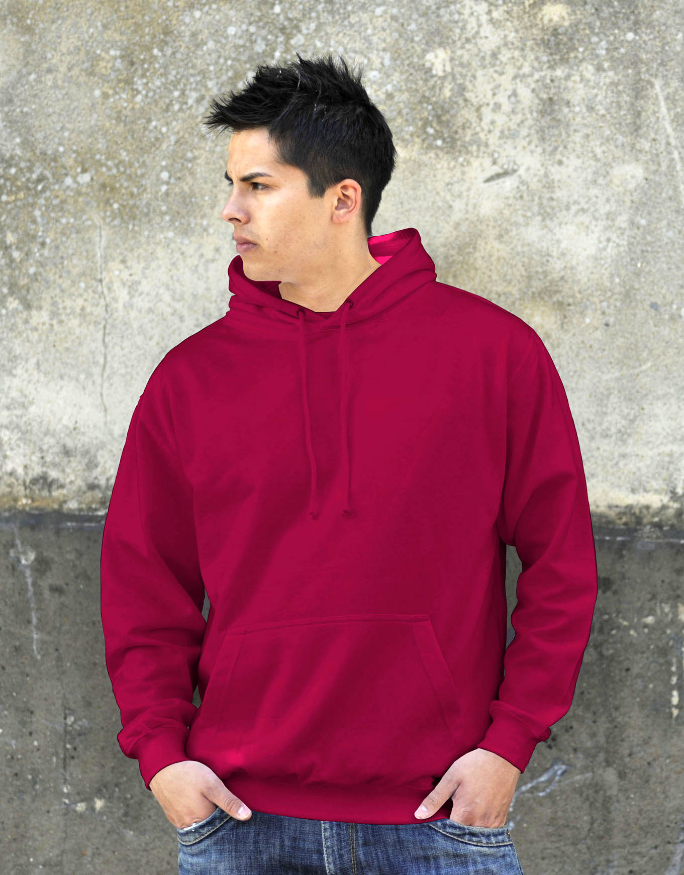 AWDis College Hoodie Cranberry