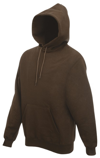 Fruit of the Loom Hooded Sweater SC244C Chocolate