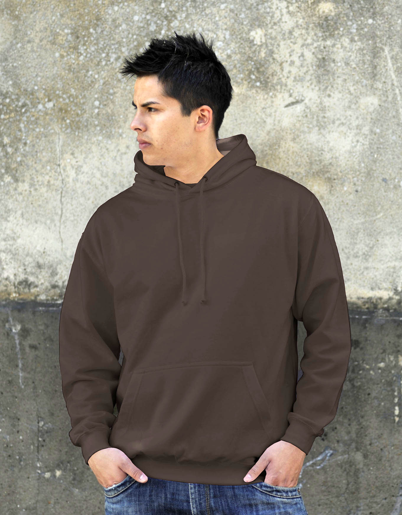 AWDis College Hoodie Olive Green
