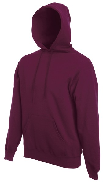 Fruit of the Loom Hooded Sweater SC244C Burgundy