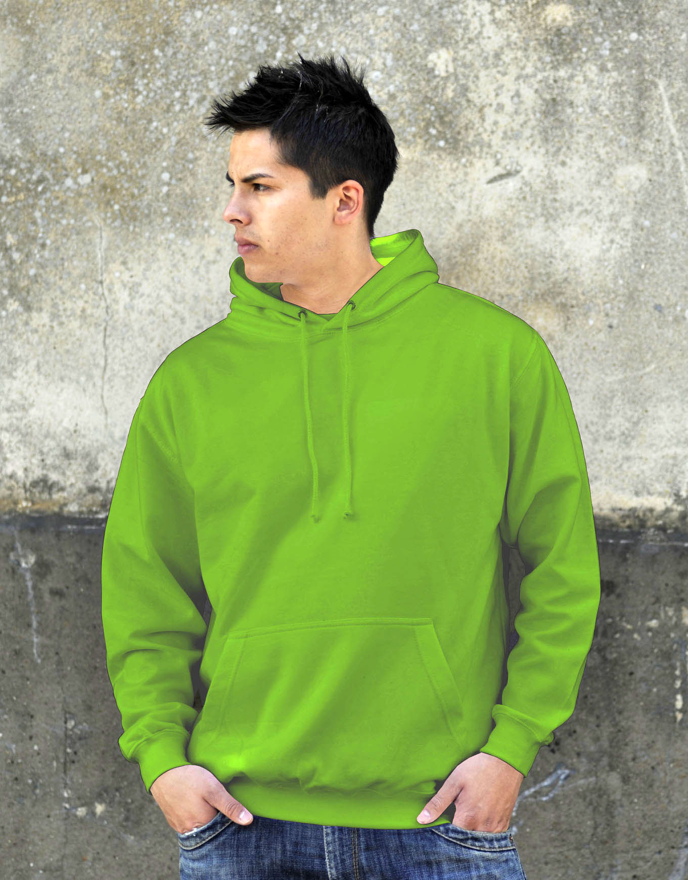 AWDis College Hoodie Lime Green