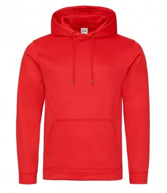 AWDis Hoods Sports polyester hoodie rood