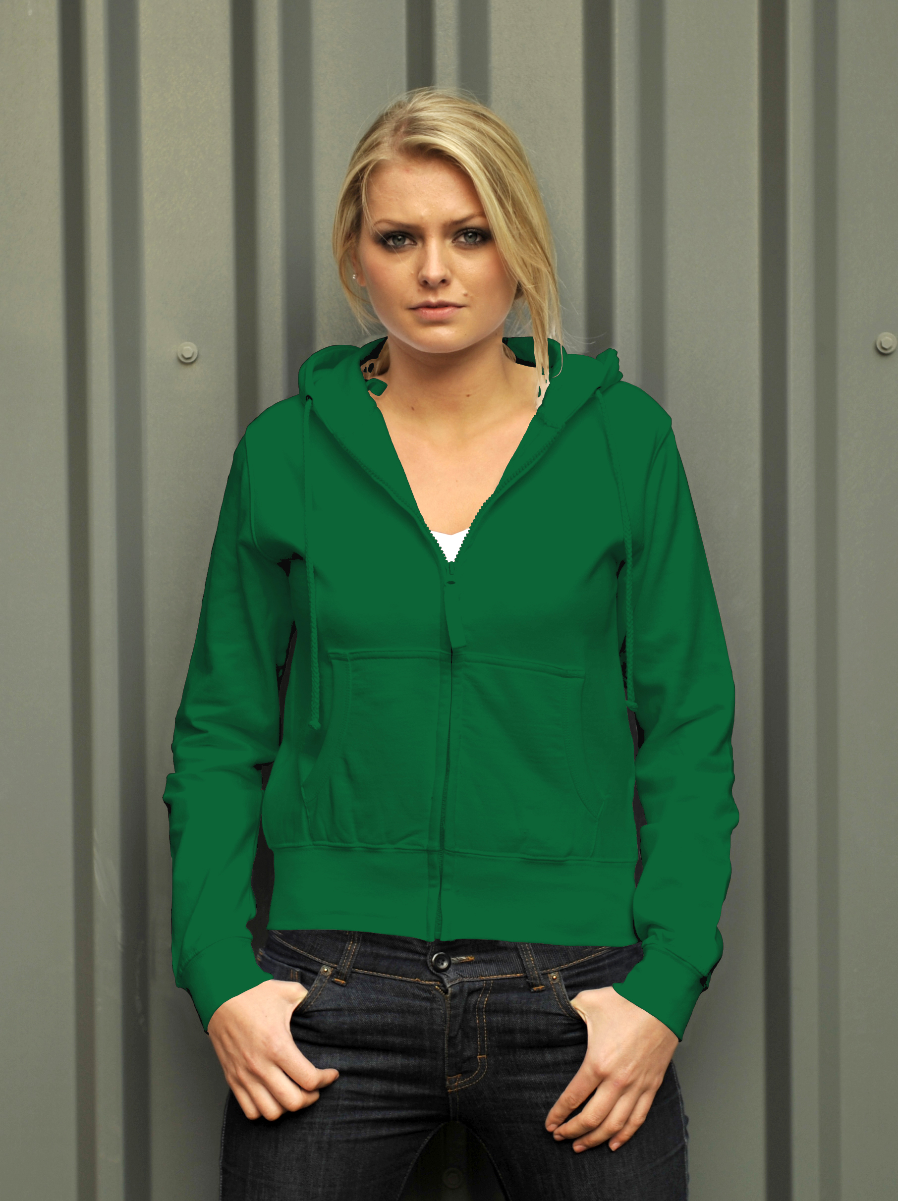 AWDis Girlie Zoodie Kelly Green