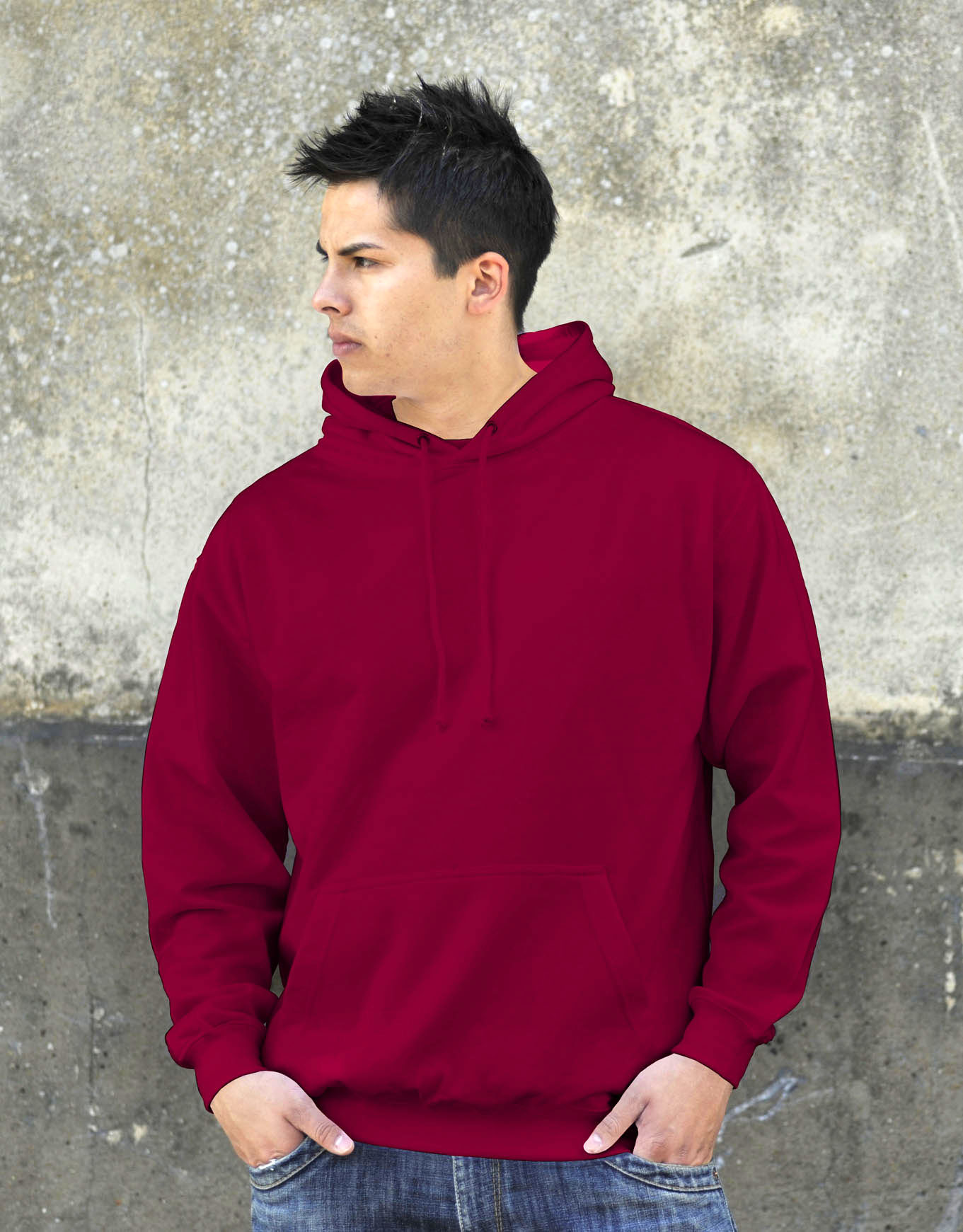 AWDis College Hoodie Red Hot Chilli