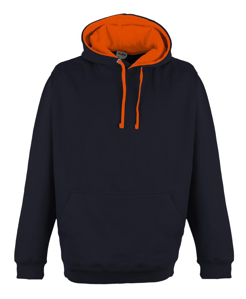 JH013 Oxford Navy - Electric Orange
