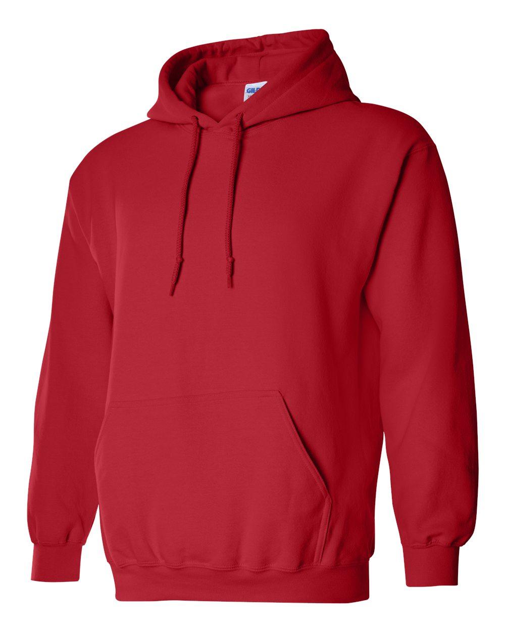 Gildan Heavy Blend Hooded Sweatshirt GI18500 Red