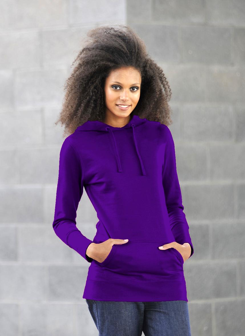 AWDis Girlie Longline Purple