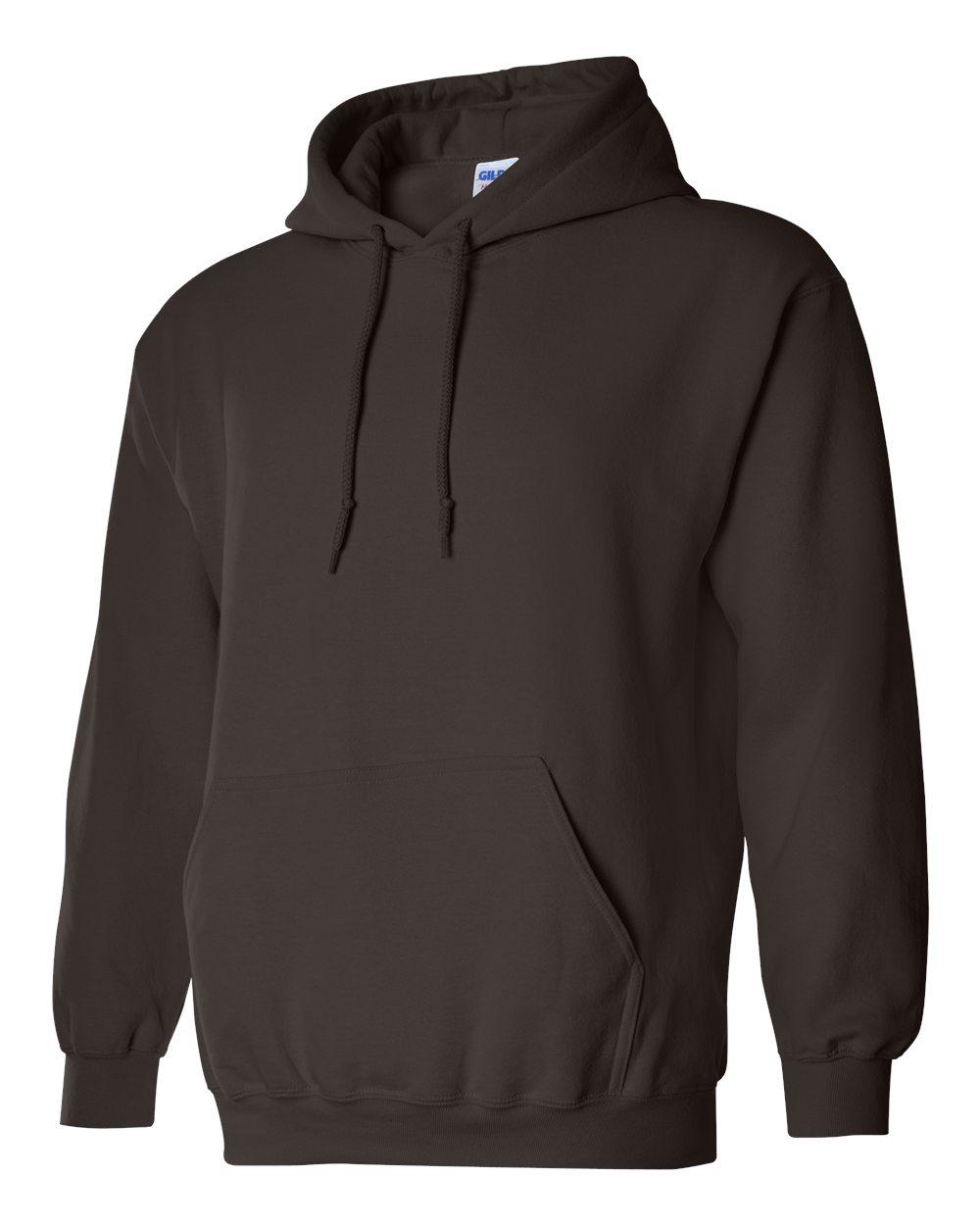 Gildan Heavy Blend Hooded Sweatshirt GI18500 Dark Chocolate