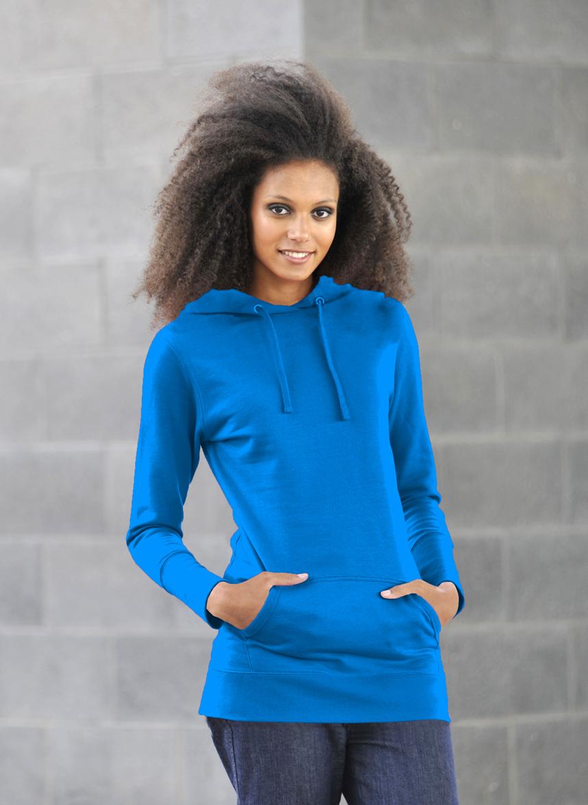 AWDis Girlie Longline Sapphire Blue