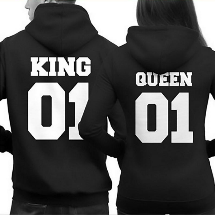 king and queen hoodie sweater