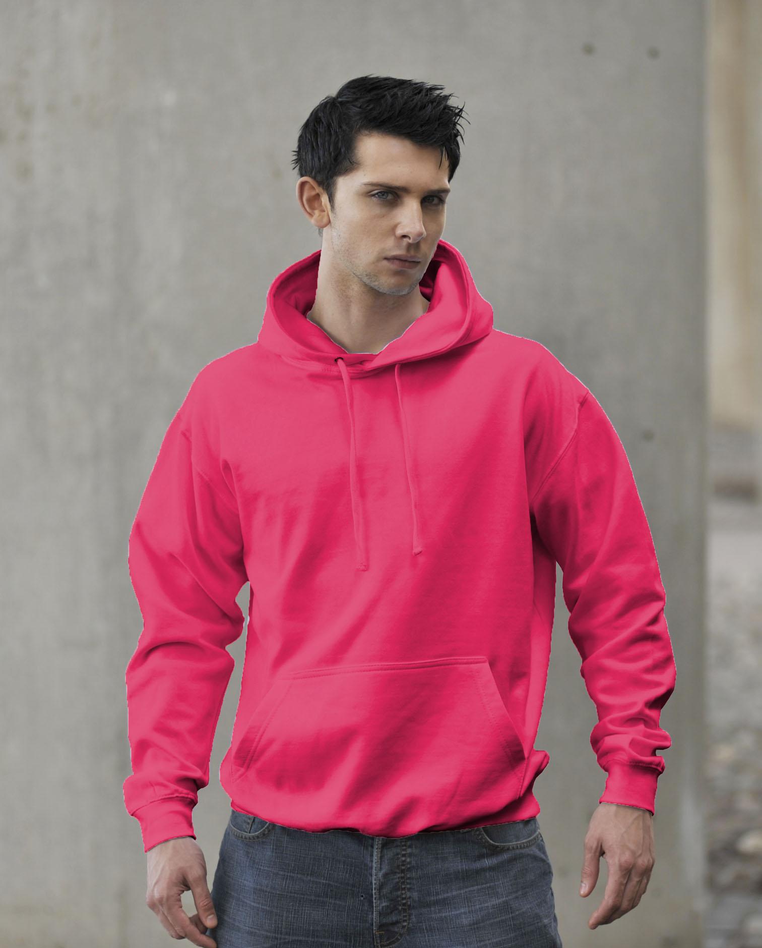 JH004 Fluor Hoodie Electric Pink